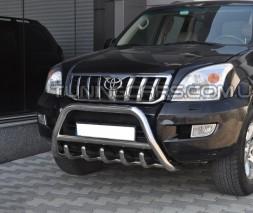 Защита переднего бампера для Toyota Land Cruiser Prado 120 (2002-2009) TYLC.02.F1-03 d60мм x 1.6