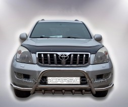 Защита переднего бампера для Toyota Land Cruiser Prado 150 (2009+) TYLC.09.F1-07 d60мм x 1.6