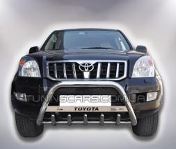 Защита переднего бампера для Toyota Land Cruiser Prado 120 (2002-2009) TYLC.02.F1-09 d60мм x 1.6