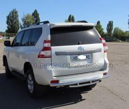 Защита заднего бампера для Toyota Land Cruiser Prado 150 (2009+) TYLC.09.B1-03 d60мм x 1.6