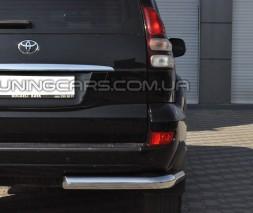 Защита заднего бампера (углы) для Toyota Land Cruiser Prado 150 (2009+) TYLC.09.B1-09 d60мм x 1.6