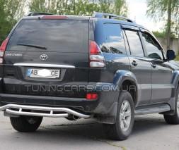 Защита заднего бампера для Toyota Land Cruiser Prado 120 (2002-2009) TYLC.02.B1-22 d60мм x 1.6