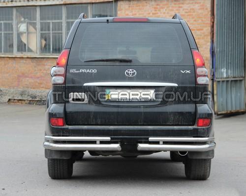 Защита заднего бампера (углы) для Toyota Land Cruiser Prado 120 (2002-2009) TYLC.02.B1-48 d60мм x 1.6