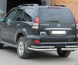 Защита заднего бампера (углы) для Toyota Land Cruiser Prado 150 (2009+) TYLC.09.B1-48 d60мм x 1.6