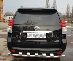 Защита заднего бампера для Toyota Land Cruiser Prado 150 (2009+) TYLC.09.B1-57 d60мм x 1.6