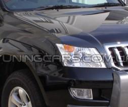 Накладки на фары (реснички) Toyota Prado 120, Тойота Прадо 120