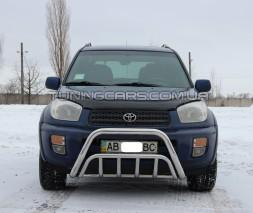 Защита переднего бампера для Toyota RAV4 XA 30 (2010-2012) TYRV.10.F1-02 d60мм x 1.6