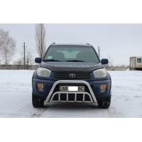 Защита переднего бампера для Toyota RAV4 XA 20 (2000-2005) TYRV.00.F1-02 d60мм x 1.6