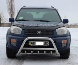 Защита переднего бампера для Toyota RAV4 XA 40 (2016+) TYRV.16.F1-03 d60мм x 1.6