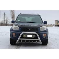Защита переднего бампера для Toyota RAV4 XA 20 (2000-2005) TYRV.00.F1-03 d60мм x 1.6
