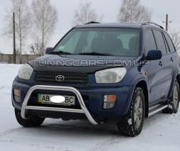 Защита переднего бампера для Toyota RAV4 XA 30 (2005-2010) TYRV.05.F1-11 d60мм x 1.6