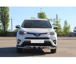 Защита переднего бампера для Toyota RAV4 XA 30 (2010-2012) TYRV.10.F3-08 d60мм x 1.6