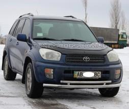 Передняя защита ус Toyota Rav 4 XA 40 (13-15) TYRV.13.F3-20