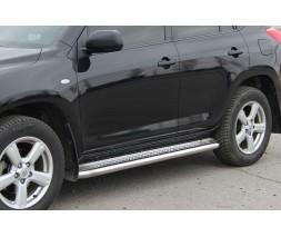 Пороги площадка для Toyota Rav4 XA 30 (2005-2010) TYRV.05.S2-01 d60мм x 1.6
