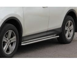 Пороги площадка для Toyota RAV4 XA 40 (2016-2018) TYRV.16.S2-01 d60мм x 1.6