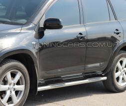Пороги трубы с накладками Toyota Rav 4 XA 20 (00-05) TYRV.00.S1-02