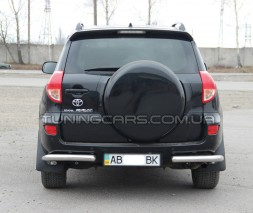 Защита заднего бампера (углы) для Toyota RAV4 XA 30 (2010-2012) TYRV.10.B1-09 d60мм x 1.6