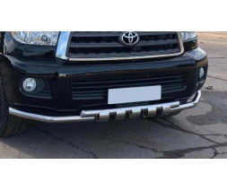Защита переднего бампера для Toyota Tundra (2014+) TYTN.14.F3-08 d60мм x 1.6