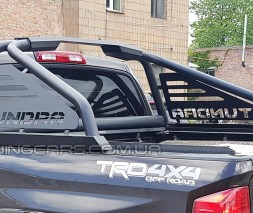 Защитная дуга для кузова Toyota Tundra (2014+) TYTN.14.C1-13 (черный) d60мм x 1.6