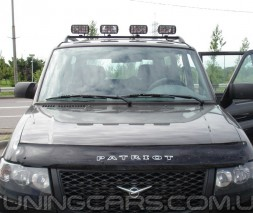 Дефлектор капота (мухобойка) УАЗ Patriot 2005-, (УАЗ Патриот) SIM
