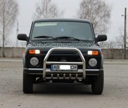 Передняя защита кенгурятник Lada Niva 2121 (85+) LDNV.85.F2-02