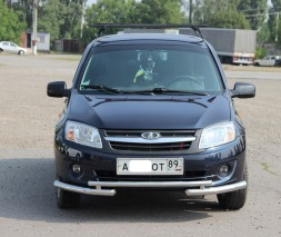 Защита переднего бампера для Lada Granta (2011+) ВАЗ 2190 LDGR.11.F3-07 d60мм x 1.6