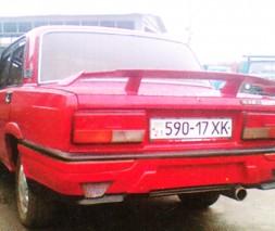 Бампер задний ВАЗ: 2105, 2106, 2107 Евронова