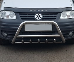 Защита переднего бампера для Volkswagen Caddy Type 2k (2004-2010) VWCD.04.F1-03 d60мм x 1.6