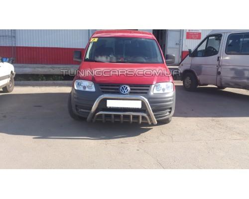 Защита переднего бампера для Volkswagen Caddy Type 2k (2004-2010) VWCD.04.F1-02 d60мм x 1.6