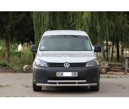 Защита переднего бампера для Volkswagen Caddy Type 2k (2010-2015) VWCD.10.F3-20 d60мм x 1.6