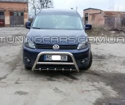 Передняя защита кенгурятник Volkswagen Caddy Type 2k (04-10) VWCD.04.F1-03