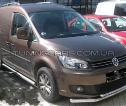 Передняя защита ус Volkswagen Caddy Type 2k (04-10) VWCD.04.F3-10