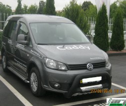 Пороги Volkswagen Caddy (MAXI) KB004 (Lotus)