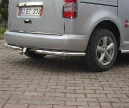 Защита заднего бампера Volkswagen Caddy [2004+] AK003