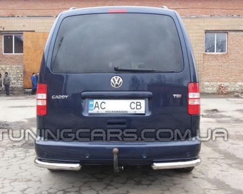 Защита заднего бампера (углы) для Volkswagen Caddy Type 2k (2004-2010) VWCD.04.B1-09 d60мм x 1.6