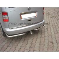 Защита заднего бампера (углы) для Volkswagen Caddy Type 2k (2010-2015) VWCD.10.B1-09 d60мм x 1.6