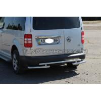 Защита заднего бампера для Volkswagen Caddy Type 2k (2010-2015) VWCD.10.B1-10M d60мм x 1.6