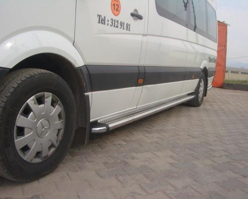 Пороги площадка для Volkswagen Crafter (2006+) S2-02 d60мм x 1.6