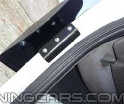 """Козырек лобового стекла """"Черный"""" (глянцевый) для Volkswagen Crafter, Фольксваген Крафтер"""