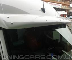 """Козырек лобового стекла """"Белый"""" (глянец) для Volkswagen LT35, Фольксваген ЛТ35"""