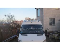 Держатель фар на крышу для Volkswagen LT-35 (1996-2006) MBSP.95.H1-01 d60мм x 1.6