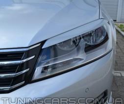 Накладки на фары (реснички) Volkswagen Passat B7