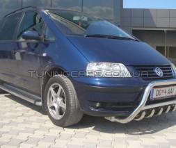 Передняя защита кенгурятник Volkswagen Sharan I (99-09) VWSH.99.F1-11