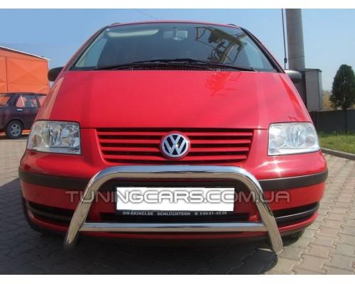 Защита переднего бампера для Volkswagen Sharan I (1999-2009) VWSH.99.F1-11 d60мм x 1.6