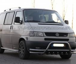 Защита переднего бампера для Volkswagen Transporter T4 (1990-2003) WVT4.90.F1-05 d60мм x 1.6