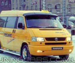 """Козырек лобового стекла """"Черный"""" (глянец) для Volkswagen T4, Фольксваген Т4"""
