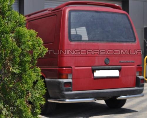 Защита заднего бампера (углы) для Volkswagen Transporter T4 (1990-2003) WVT4.90.B1-09 d60мм x 1.6