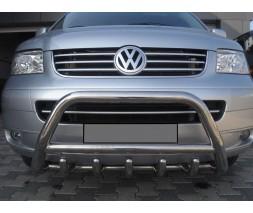 Защита переднего бампера для Volkswagen Transporter T6 (2016+) VWT6.16.F1-03 d60мм x 1.6