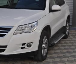 Пороги Volkswagen Tiguan AB004 (Artemis Silver)