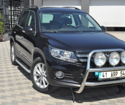 Пороги Volkswagen Tiguan [2006+] NS001 (Newstar Grey)